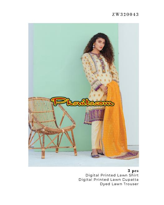 Zellbury Lawn Spring Collection 2020 Pakistani Latest Fashion Suits Online